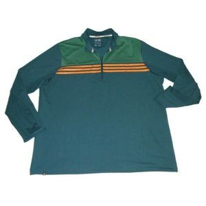 Adidas Climacool 1/4 Zip Shirt Orange Blue Green